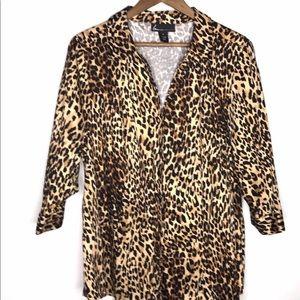 Lane Bryant Animal Print Top Blazer Size 22